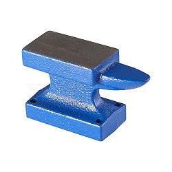 Outils d'enclume banc de fer diy, klaxon, bleu, 9.2x3.5x5.5 cm(TOOL-WH0102-01)