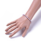 Natural Mixed Stone Stretch Bracelets(BJEW-JB04493)-4
