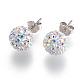 Sterling Silver Austrian Crystal Rhinestone Ball Stud Earrings for Girl(Q286H021)-2