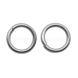 304 Stainless Steel Jump Rings, Close but Unsoldered, Round, 20 Gauge, 6x0.8mm; Inner Diameter: 4.4mm; about 157pcs/10g(X-STAS-H017)