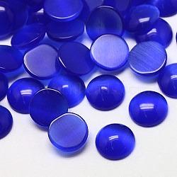 Кабошоны кошачьего глаза, полукруглый, синие, 25x4.5 мм(CE-J002-25mm-03)