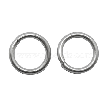 Stainless Steel Color Round Stainless Steel Close but Unsoldered Jump Rings