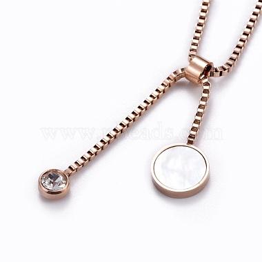 304 Stainless Steel Lariat Necklaces(NJEW-I232-11RG)-2