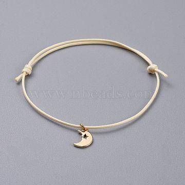 Cornsilk Waxed Cord Bracelets