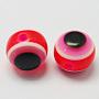 Fuchsia Round Resin Beads(RESI-R159-6mm-07)