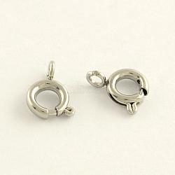 304 пружинные кольца из нержавеющей стали, нержавеющая сталь цвет, 7.2x6.2x1 mm, отверстия: 1.5 mm; Внутренний диаметр: 3 mm(STAS-R065-24)