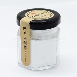 Poudre de perle naturelle faite à la main, pour les soins de la peau, blanc, 5.2x4.4x4.4 cm(MRMJ-P005-01)