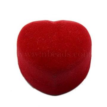 Crimson Heart Velours Ring Box