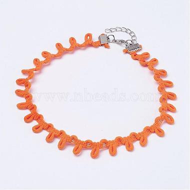 Orange Cloth Necklaces