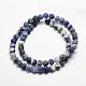 Natural Sodalite Beads Strands(G-J364-01-8mm)-2