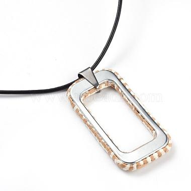 Raffia Woven Pendants Necklaces(NJEW-JN02360-02)-3