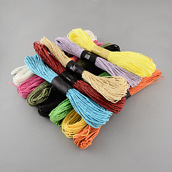 Mixed Color Twisted Paper Cord, For Paper Craft, Mixed Color, 1.5mm, about 656.16 yards(600m)/bag(DIY-S003-03-50m)