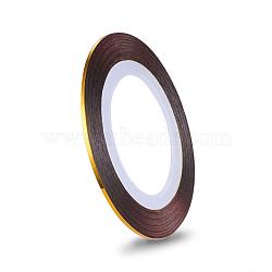 Autocollants pour lignes à laser ultra-minces, pour la conception d'art d'ongle, verge d'or, 0.8~1mm, 20m/rouleau(MRMJ-K006-03-25)