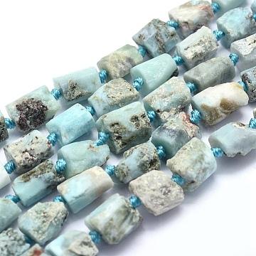 7mm Nuggets Larimar Beads