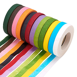 Crepe Paper, For Paper Flower Wrapping, DIY Party Decoration, Mixed Color, 12mm; about 30yards/roll(DIY-WH0143-97-M)
