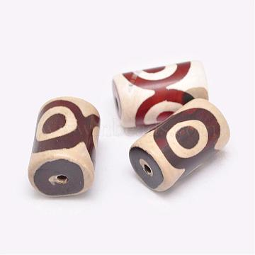 22mm Red Column Tibetan Agate Beads