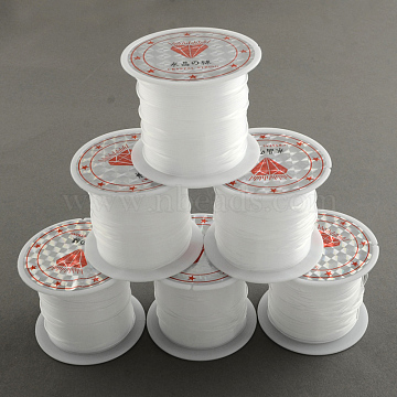 Nylon Wire, Clear, 0.8mm, about 8.74 yards(8m)/roll(X-NWIR-R011-0.8mm)