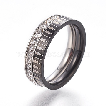 Clear Stainless Steel Finger Rings