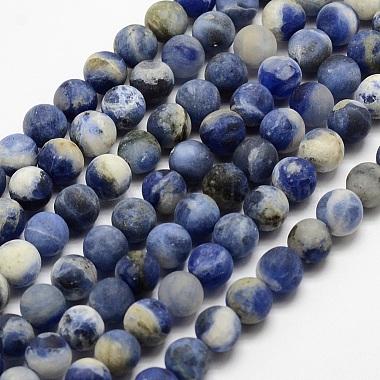 12mm Round Sodalite Beads