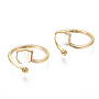Real 18K Gold Plated White Brass For Half-drilled Beads(KK-S354-287-NF)