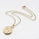 304 Stainless Steel Pendant Necklaces(STAS-I075-02G)-1