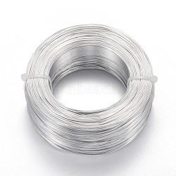Fil d'aluminium, fil d'artisanat flexible, pour la fabrication artisanale de poupée de bijoux de perles, argent, Jauge 20, 0.8 mm; 300 m / 500 g (984.2 pieds / 500 g)