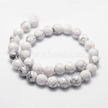 Natural Howlite Beads Strands(G-D840-44-6mm)-2