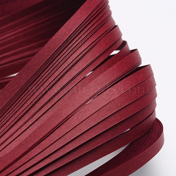 Quilling Paper Strips, Dark Red, 530x5mm; about 120strips/bag(DIY-J001-5mm-B32)