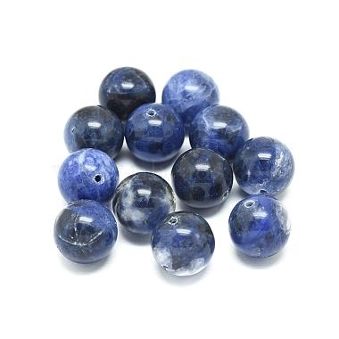 14mm Round Sodalite Beads