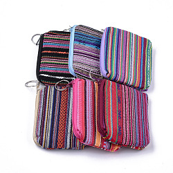 Cloth Clutch Bags, Change Purse, with Iron Ring, Mixed Color, 120~122x88~92x12~13mm(ABAG-S005-08)