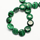 Flat Round Synthetic Malachite Beads Strands(X-G-S110-11)-2