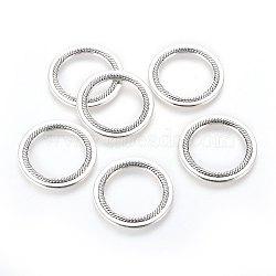 Argent antique anneaux en alliage de liaison, sans plomb et sans cadmium, 27x2mm, Trou: 19mm(X-EA6974Y)