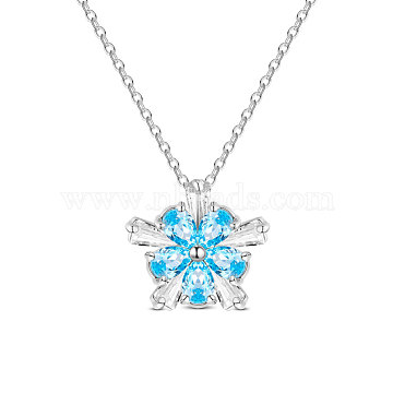 457mm Sterling Silver+Austrian Crystal Necklaces