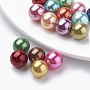 Mixed Color Round Plastic Beads(X-MACR-S277-4mm-C)
