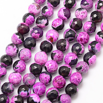 8mm Orchid Round Fire Agate Beads