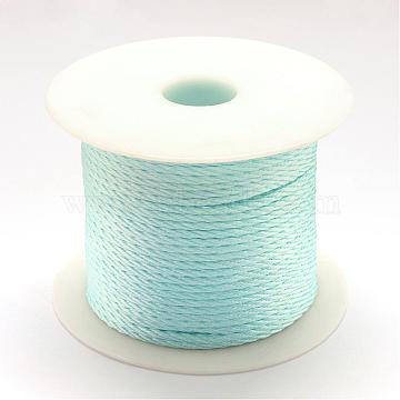 Nylon Thread, Light Sky Blue, 1.0mm, about 49.21 yards(45m)/roll(NWIR-R026-1.0mm-02)
