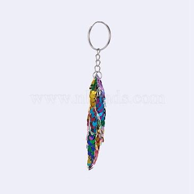 Plastic Paillette Beaded Puppy Keychain(KEYC-F024-B04)-2