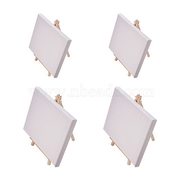 NBEADS Folding Wooden Easel Sketchpad Settings, Kids Learning Education Toys, White, 18~20x13~15x1.6cm; 20x12cm; 4sets(DIY-NB0001-28)