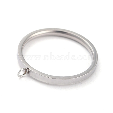 304 paramètres d'anneau de doigt en acier inoxydable(RJEW-O045-09C-P)-2