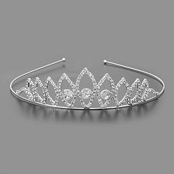 модные свадебные короны, свадебные диадемы, с основанием из железа и латуни, кристалл, 115 mm(OHAR-S194-05)