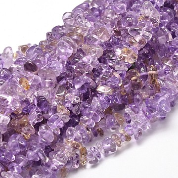 Natural Ametrine Chip Beads Strands, 5~14x4~10mm, Hole: 1mm, about 15.5 inches~16.1 inches(X-G-E271-134)