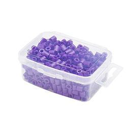 1 boîte 5mm perles hama PE de bricolage recharges pour enfants, Tube, darkslateblue, 5x5mm, trou: 3 mm; environ 500 / boîte(DIY-X0047-94-B)