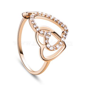 Clear Brass + Cubic Zirconia Finger Rings