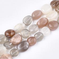 натуральный Sunstone бисер пряди, самородки, упавший камень, 9~13x9~10x4~7 mm, отверстия: 1 mm; о 38~40 шт / прядь, 15.3(X-G-T108-23)