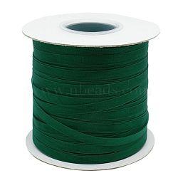 "Ruban d'organza polyester, verte, 1/4"" (6 mm); 400 yards / rouleau (365.76m / groupe)(ORIB-L001-02-342)"