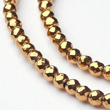 2mm Gold Round Non-magnetic Hematite Beads