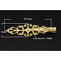 Iron Flat Alligator Hair Clip Findings, with Brass Tray, Golden, 56.5x16x10mm