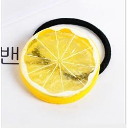 liens élastiques de cheveux, avec les résultats acryliques, citron, jaune, 50~70 mm(OHAR-E008-13B)