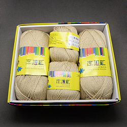 Soft Baby Yarns, with Cashmere, Organic Cotton and Fibre, BurlyWood, 2mm; big: 100g/roll, small: 50g/roll, 4rolls/box(YCOR-R022-KS33)