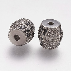 304 Stainless Steel Rhinestone Beads, Drum, Stainless Steel Color, 10x10mm, Hole: 2mm(STAS-K171-39P)